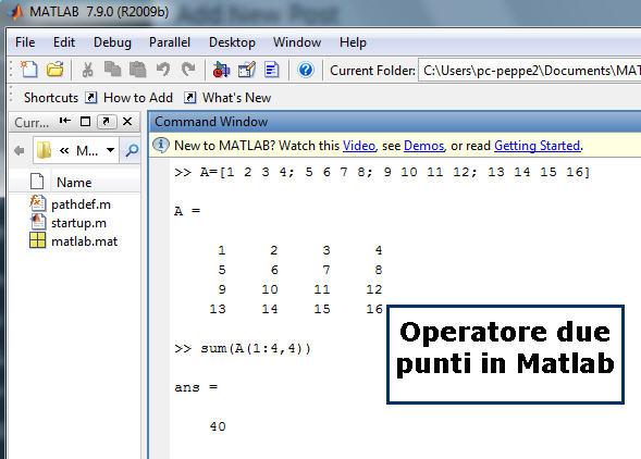 operatore.matlab