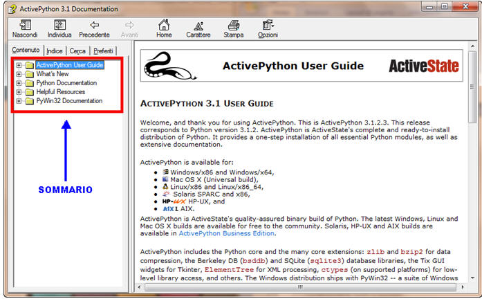 Documentazione Python